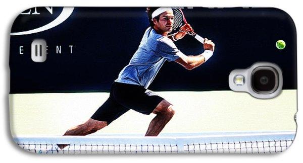 Flying Federer  Galaxy S4 Case by Nishanth Gopinathan