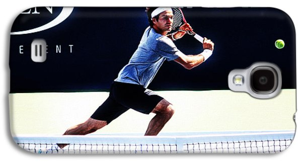 Volley Galaxy S4 Cases - Flying Federer  Galaxy S4 Case by Nishanth Gopinathan