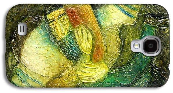 Jerusalem Paintings Galaxy S4 Cases - Flying Jew Galaxy S4 Case by Leon Zernitsky