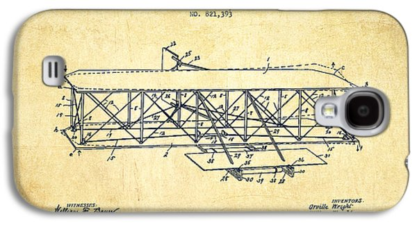Flying Machine Patent Drawing From 1906 - Vintage Galaxy S4 Case by Aged Pixel