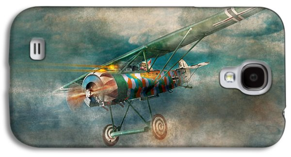 Suburban Digital Art Galaxy S4 Cases - Flying Pig - Acts of a pig Galaxy S4 Case by Mike Savad