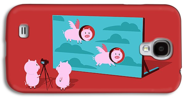 Camera Galaxy S4 Cases - Flying pig Galaxy S4 Case by Budi Kwan