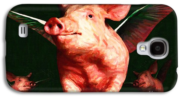 Charlotte Digital Art Galaxy S4 Cases - Flying Pigs v1 Galaxy S4 Case by Wingsdomain Art and Photography