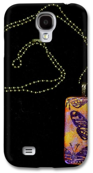 Abstract Jewelry Galaxy S4 Cases - Flying Strong Domino Pendant Galaxy S4 Case by Beverley Harper Tinsley
