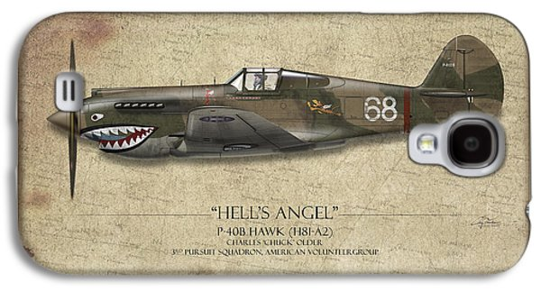 P-40 Galaxy S4 Cases - Flying Tiger P-40 Warhawk - Map Background Galaxy S4 Case by Craig Tinder