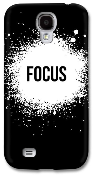 Focus Poster Black Galaxy S4 Case by Naxart Studio