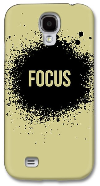 Motivational Galaxy S4 Cases - Focus Poster Grey Galaxy S4 Case by Naxart Studio