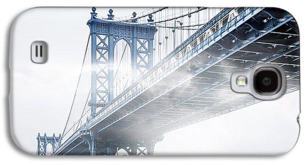 Steel Galaxy S4 Cases - Fog Under The Manhattan Galaxy S4 Case by Az Jackson