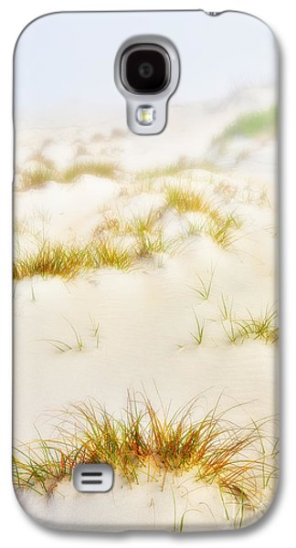 Paint Photograph Galaxy S4 Cases - Fog Sand and Dune Grass - Outer Banks Galaxy S4 Case by Dan Carmichael