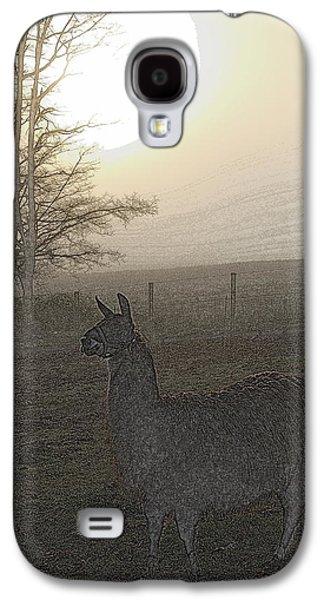 Llama Digital Galaxy S4 Cases - Foggy Llama Sunset Galaxy S4 Case by Kathy Sampson