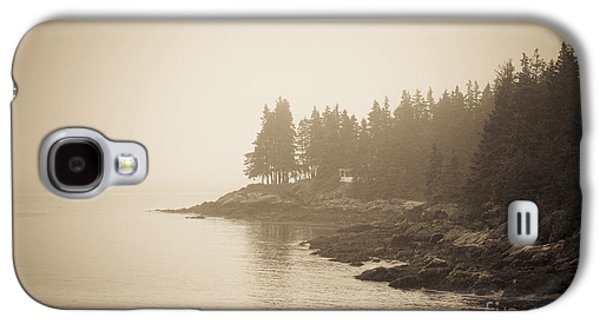 Maine Beach Galaxy S4 Cases - Foggy Maine Coast Galaxy S4 Case by Diane Diederich