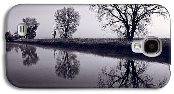 Wildlife Refuge. Galaxy S4 Cases - Foggy Morn BW Galaxy S4 Case by Steve Gadomski