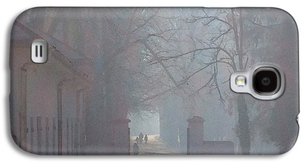 Contemplative Photographs Galaxy S4 Cases - Foggy Morn Cetinje Montenegro Galaxy S4 Case by Ann Johndro-Collins