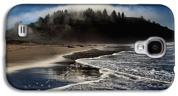 Foggy Beach Galaxy S4 Cases - Foggy Pacific Reflections Galaxy S4 Case by Adam Jewell