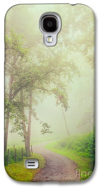 Paint Photograph Galaxy S4 Cases - Foggy Path - Blue Ridge Parkway Galaxy S4 Case by Dan Carmichael