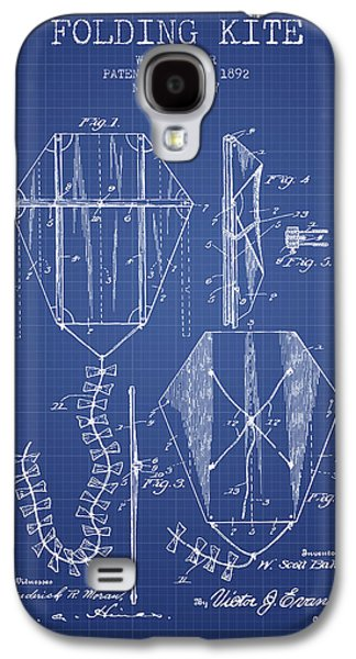 Kite Galaxy S4 Cases - Folding Kite Patent from 1892- Blueprint Galaxy S4 Case by Aged Pixel