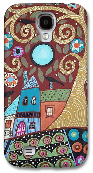 Abstract Landscape Galaxy S4 Cases - Folksy Village Galaxy S4 Case by Karla Gerard
