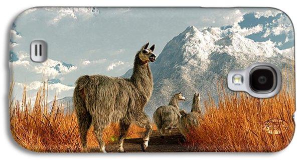 Follow The Llama Galaxy S4 Case by Daniel Eskridge