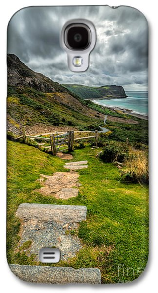 Walkway Digital Art Galaxy S4 Cases - Follow The Path Galaxy S4 Case by Adrian Evans