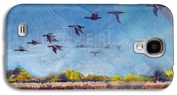 Fort Collins Paintings Galaxy S4 Cases - Follow the Sun Galaxy S4 Case by Amelia Furman