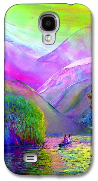 Abstract Nature Paintings Galaxy S4 Cases - Following the Flow Galaxy S4 Case by Jane Small