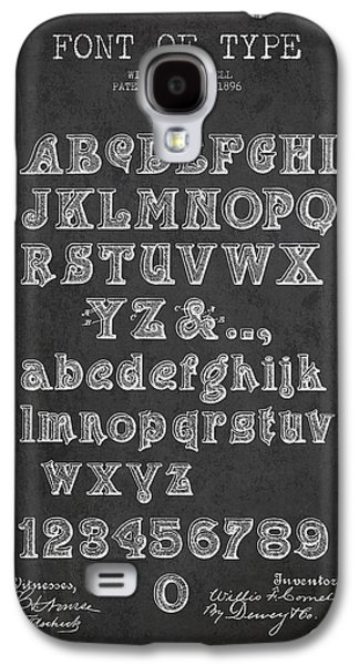 Font Galaxy S4 Cases - Font of  Type Patent Drawing from 1896 - Dark Galaxy S4 Case by Aged Pixel