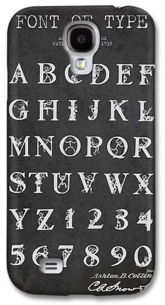 Font Galaxy S4 Cases - Font Patent Drawing from 1938 - Dark Galaxy S4 Case by Aged Pixel