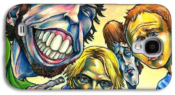 Music Mixed Media Galaxy S4 Cases - Foo Fighters Galaxy S4 Case by John Ashton Golden