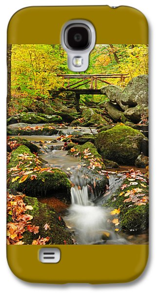 Connecticut Landscape Galaxy S4 Cases - Foot Bridge- Macedonia Brook State Park Galaxy S4 Case by Thomas Schoeller