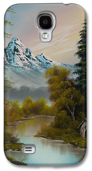 C Steele Paintings Galaxy S4 Cases - Mountain Sanctuary Galaxy S4 Case by C Steele