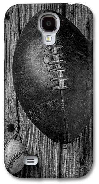 Sports Photographs Galaxy S4 Cases - Football and Baseball Galaxy S4 Case by Garry Gay