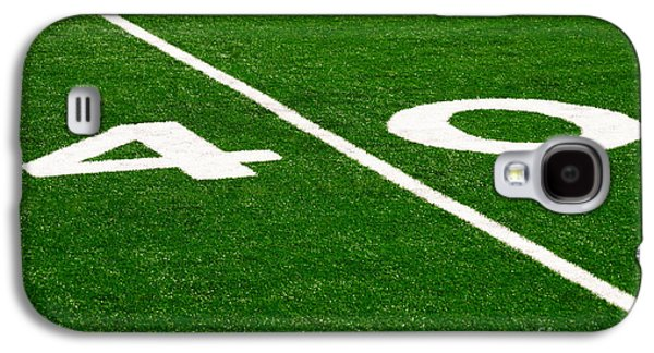 Sports Photographs Galaxy S4 Cases - Football Field 40 Yard Line Picture Galaxy S4 Case by Paul Velgos