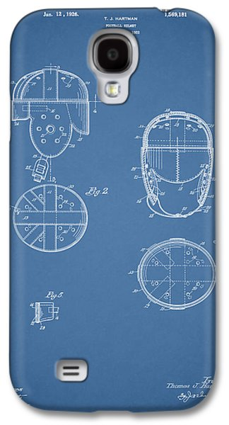 New York Jets Galaxy S4 Cases - Football Helmet 1922 - Blue Galaxy S4 Case by Mark Rogan