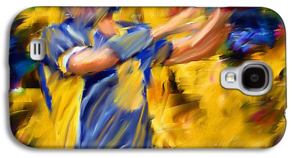 Wide Receiver Galaxy S4 Cases - Football I Galaxy S4 Case by Lourry Legarde
