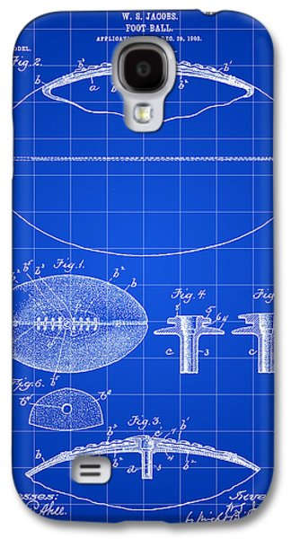 Pro Football Galaxy S4 Cases - Football Patent 1902 - Blue Galaxy S4 Case by Stephen Younts