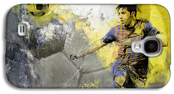 Goalkeeper Paintings Galaxy S4 Cases - Football Player Galaxy S4 Case by Catf