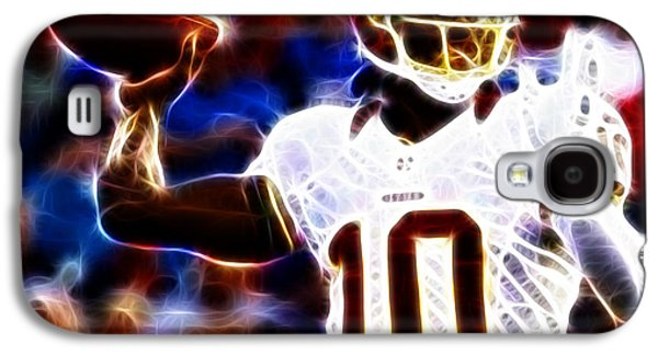Man Cave Photographs Galaxy S4 Cases - Football - RG3 - Robert Griffin III Galaxy S4 Case by Paul Ward