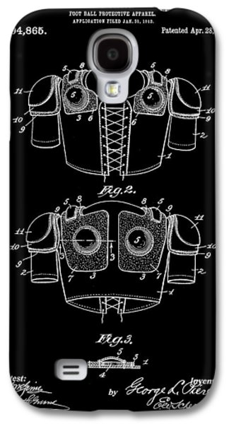Pro Football Galaxy S4 Cases - Football Shoulder Pads Patent 1913 - Black Galaxy S4 Case by Stephen Younts