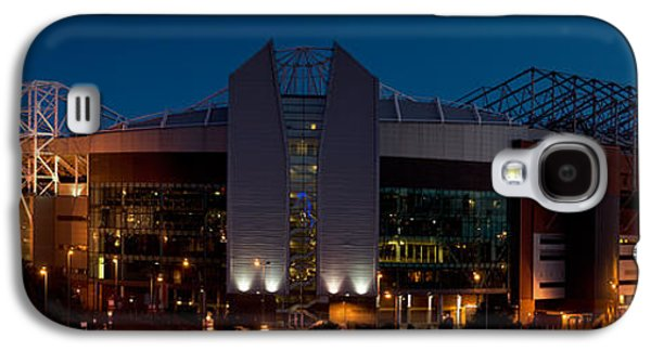 Sports Photographs Galaxy S4 Cases - Football Stadium Lit Up At Night, Old Galaxy S4 Case by Panoramic Images