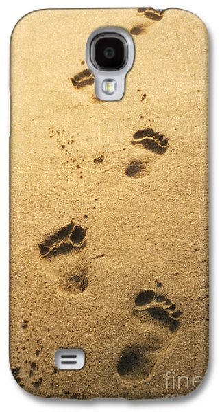 Greeting Cards Pyrography Galaxy S4 Cases - Footprints in the sand Galaxy S4 Case by Jelena Jovanovic