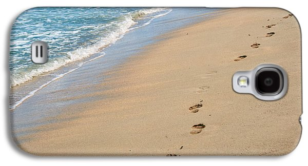 Beach Landscape Galaxy S4 Cases - Footprints in the Sand Galaxy S4 Case by Juli Scalzi