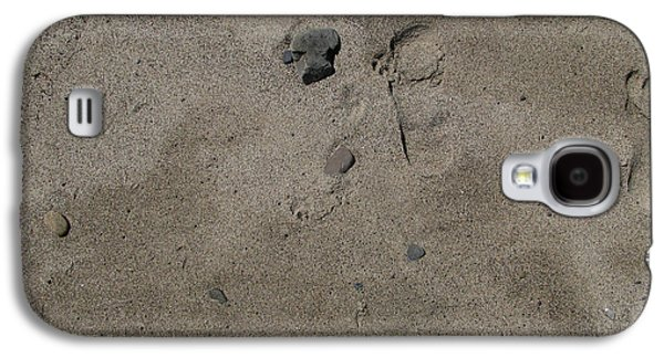 Digital Galaxy S4 Cases - Footprints On Sand Galaxy S4 Case by Bedros Awak
