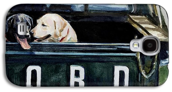 Dog Paintings Galaxy S4 Cases - For Our Retriever Dogs Galaxy S4 Case by Molly Poole