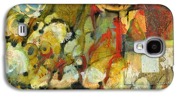 Artistic Paintings Galaxy S4 Cases - For Your Eyes Only Abstract Art Galaxy S4 Case by Blenda Studio