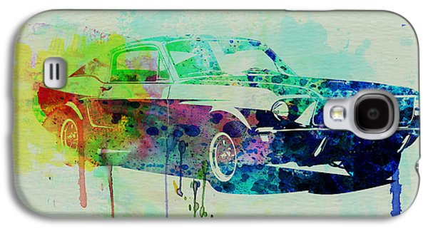 Mustang Galaxy S4 Cases - Ford Mustang Watercolor 2 Galaxy S4 Case by Naxart Studio