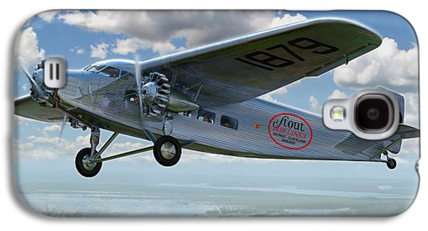 Airliner Galaxy S4 Cases - Ford Trimotor Galaxy S4 Case by Stu Shepherd