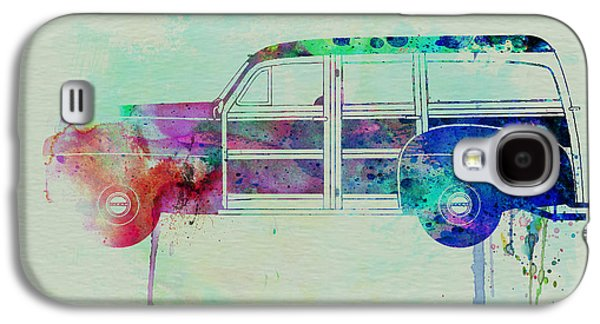 Old Car Drawings Galaxy S4 Cases - Ford Woody Galaxy S4 Case by Naxart Studio