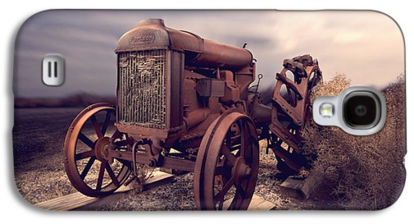 Machinery Galaxy S4 Cases - Fordson F Tractor Galaxy S4 Case by Yo Pedro