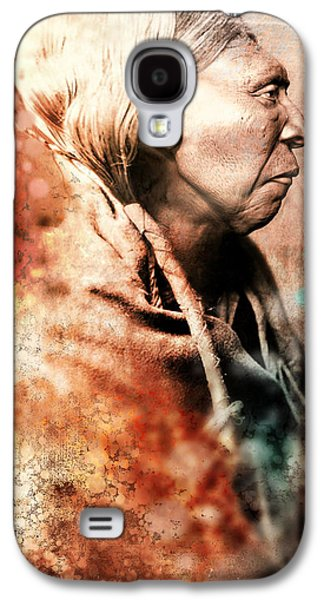 Native American Spirit Portrait Sculptures Galaxy S4 Cases - Foregoing Galaxy S4 Case by Marcia K Moore