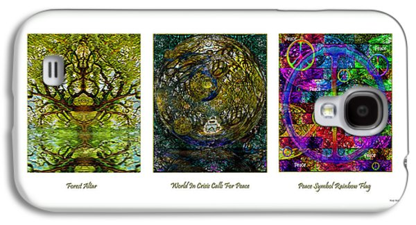 Abstract Digital Mixed Media Galaxy S4 Cases - Forest Altar World Crisis Peace Galaxy S4 Case by Michele  Avanti